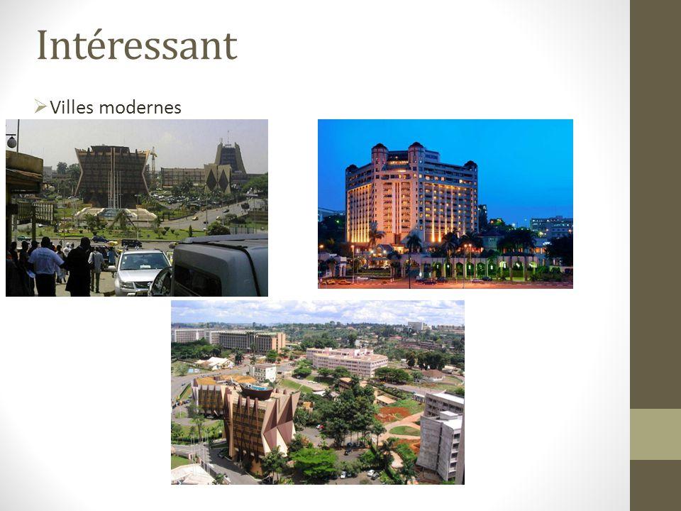Intéressant Villes modernes