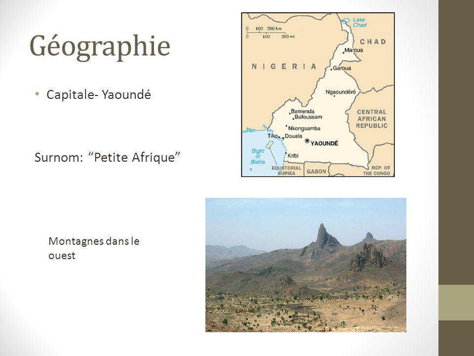 Géographie Capitale- Yaoundé Surnom: Petite Afrique