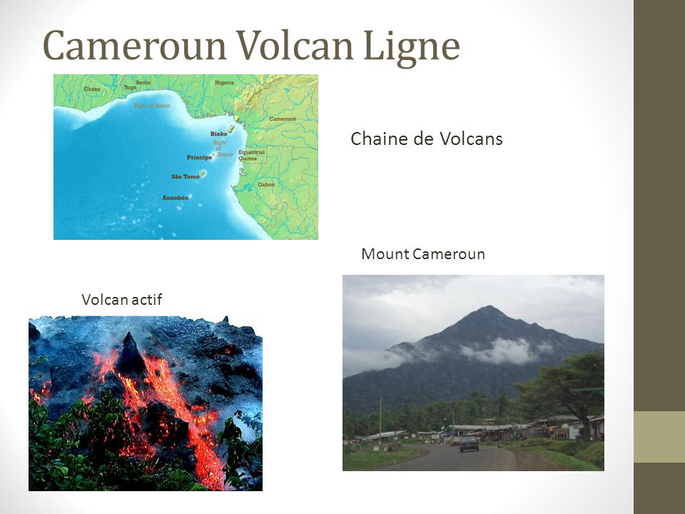 Cameroun Volcan Ligne Chaine de Volcans Mount Cameroun Volcan actif