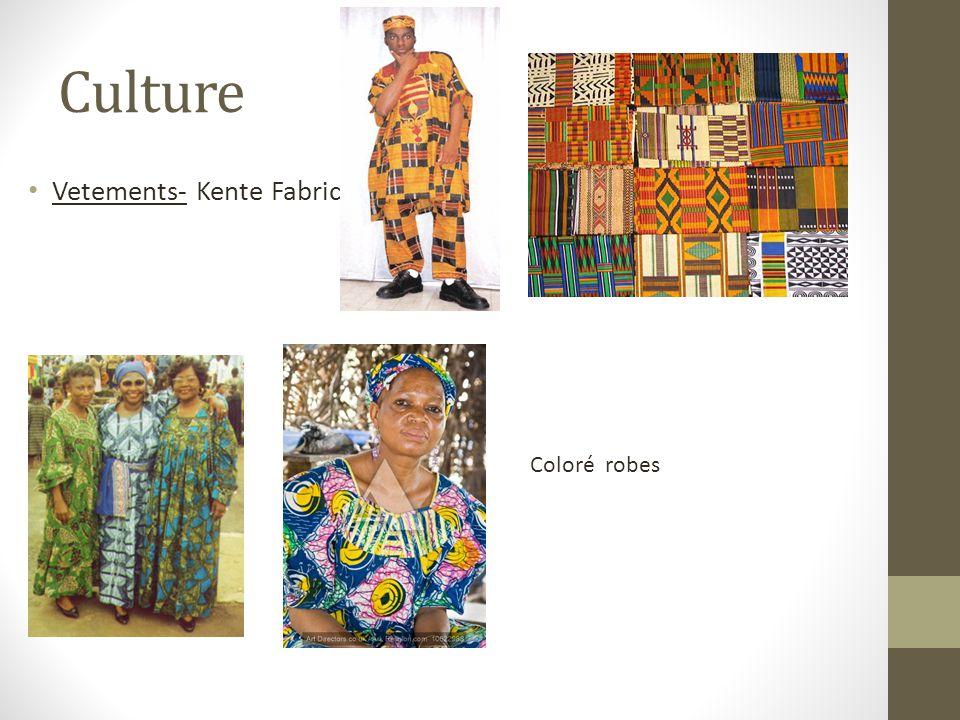 Culture Vetements- Kente Fabric Coloré robes