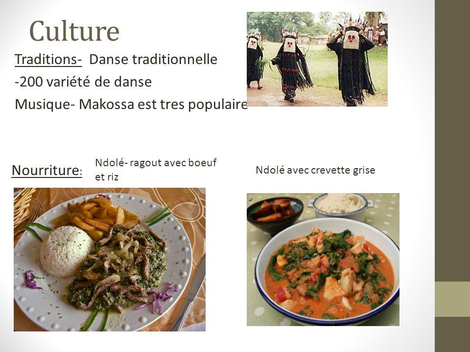 Culture Traditions- Danse traditionnelle -200 variété de danse Musique- Makossa est tres populaire