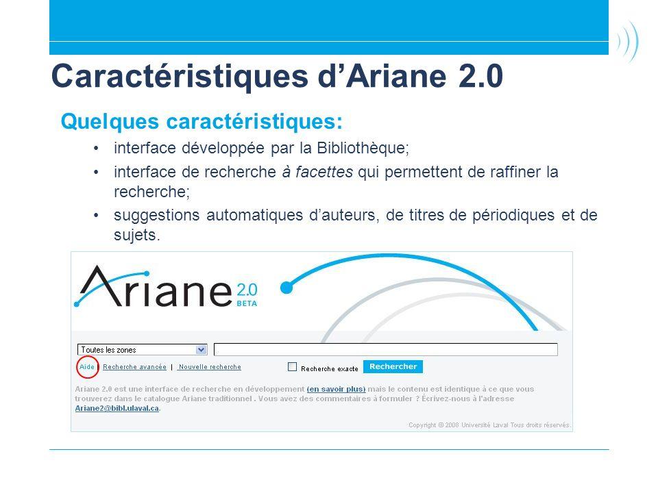 Caractéristiques d'Ariane 2.0