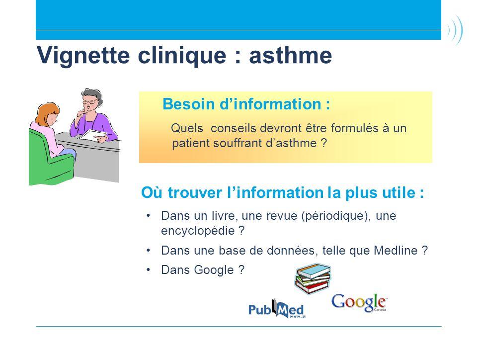 Vignette clinique : asthme