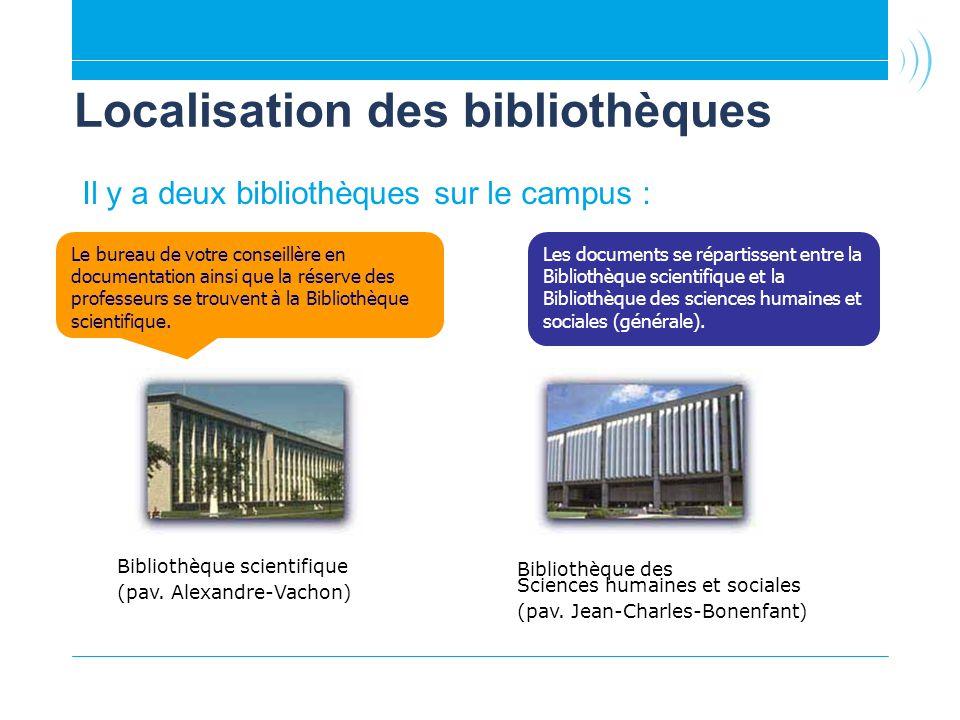 Localisation des bibliothèques
