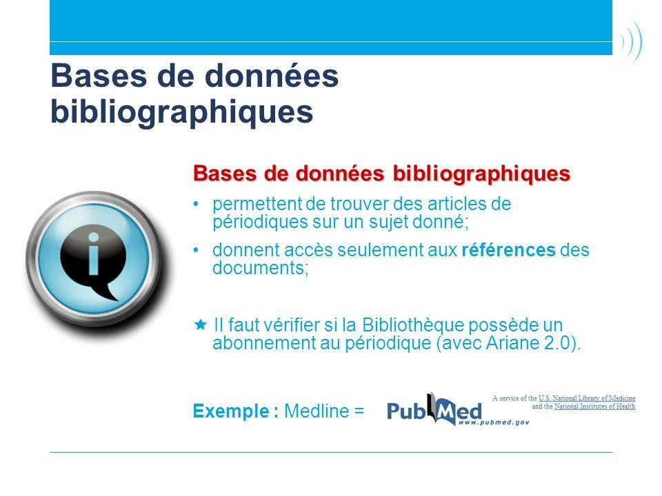 Bases de données bibliographiques