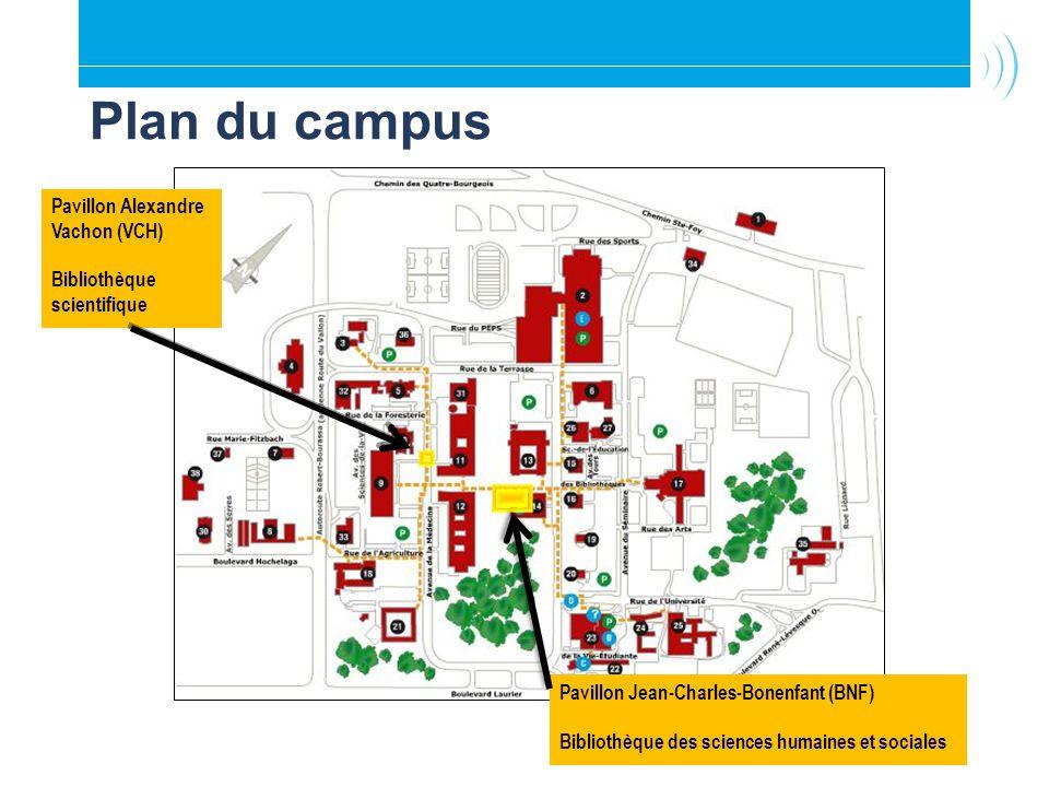 Plan du campus Pavillon Alexandre Vachon (VCH)