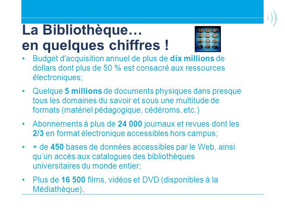 La Bibliothèque… en quelques chiffres !