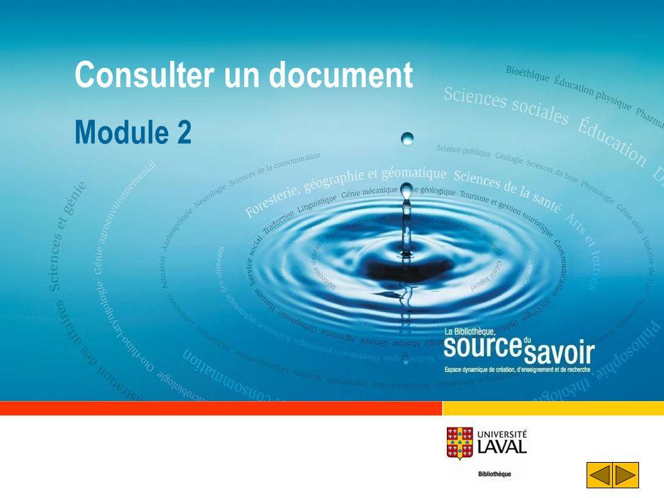 Consulter un document Module 2 Déroulement :