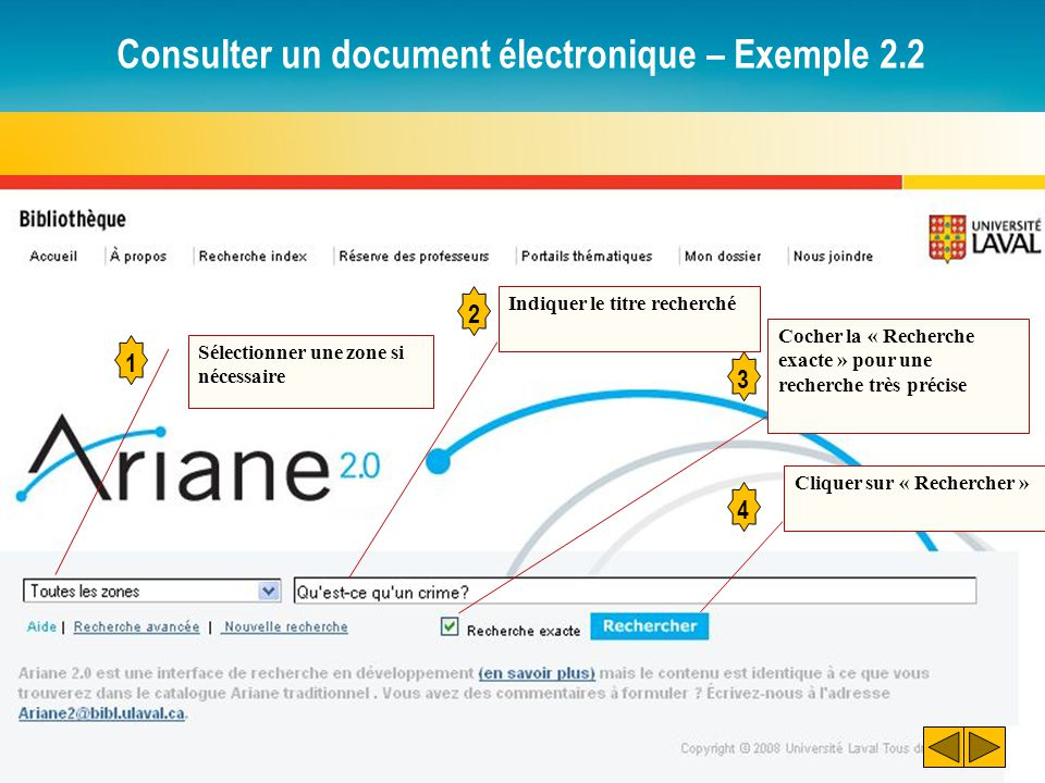 Consulter un document électronique – Exemple 2.2