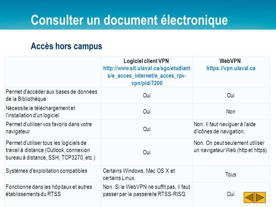 Consulter un document électronique