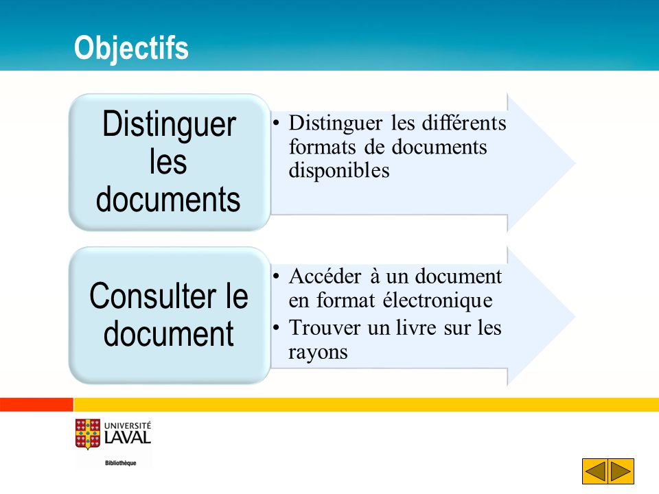 Distinguer les documents