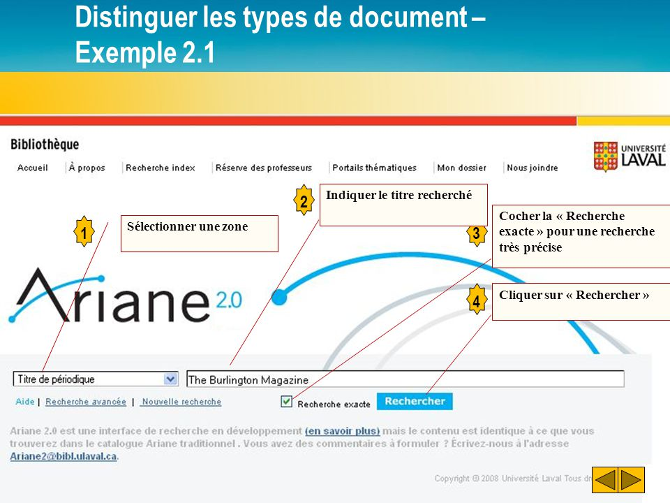 Distinguer les types de document – Exemple 2.1