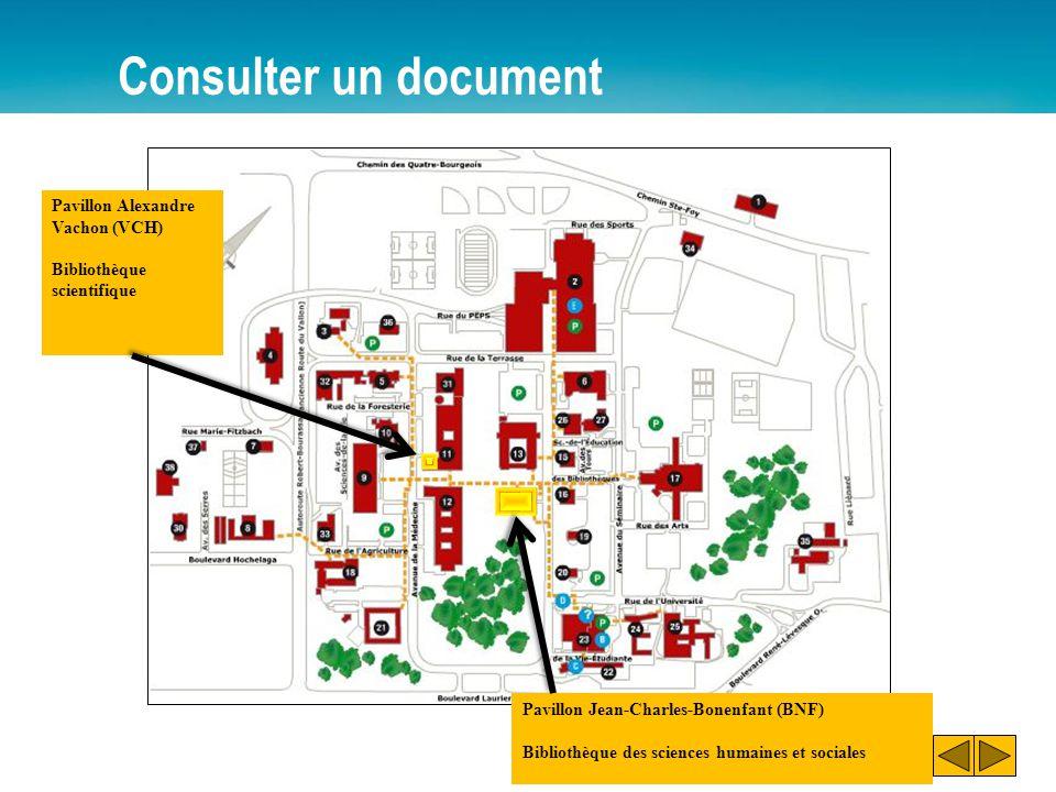 Consulter un document Pavillon Alexandre Vachon (VCH)
