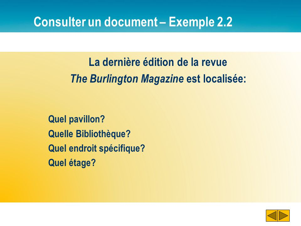Consulter un document – Exemple 2.2