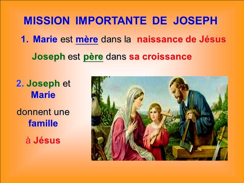 MISSION IMPORTANTE DE JOSEPH