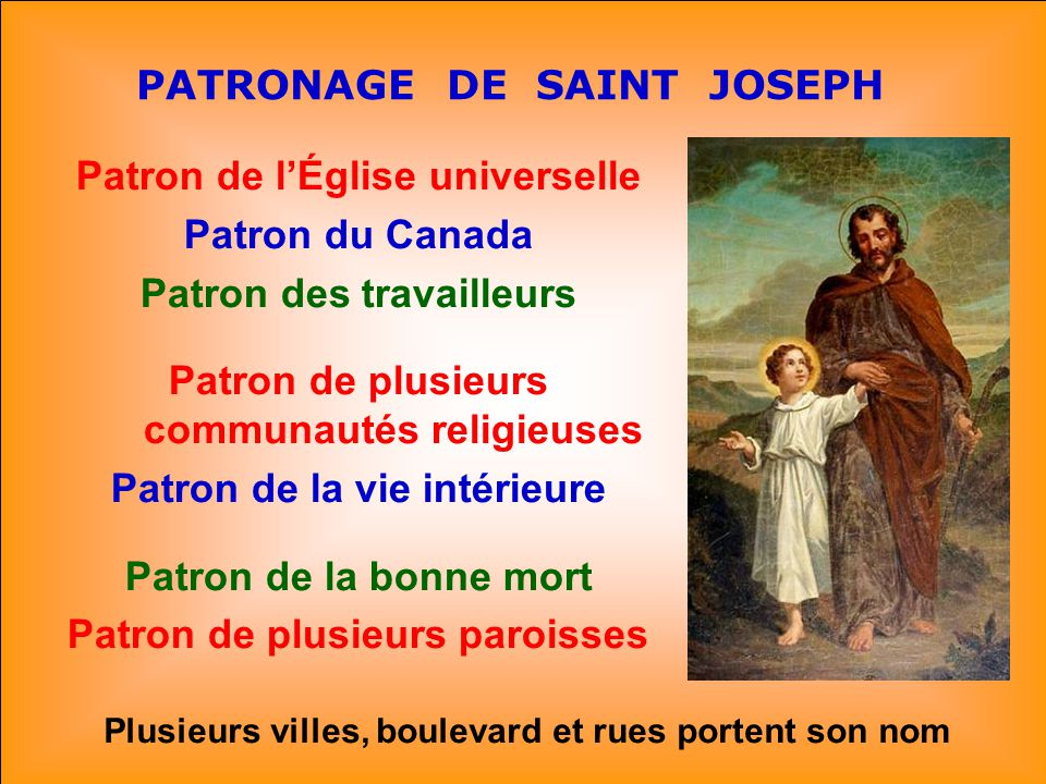 PATRONAGE DE SAINT JOSEPH