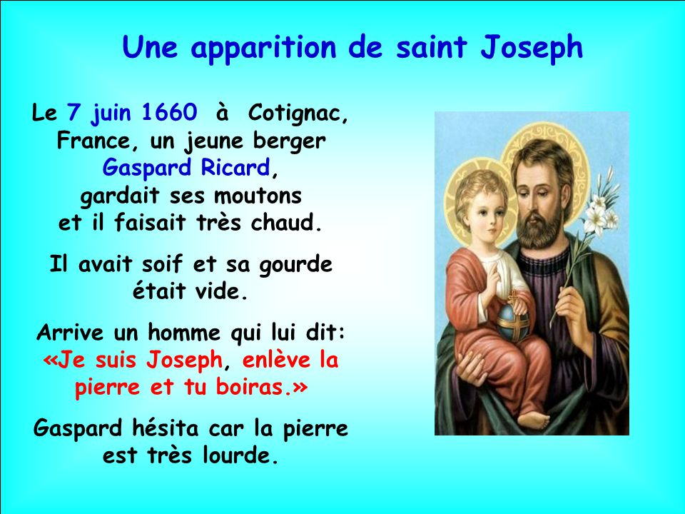 Une apparition de saint Joseph