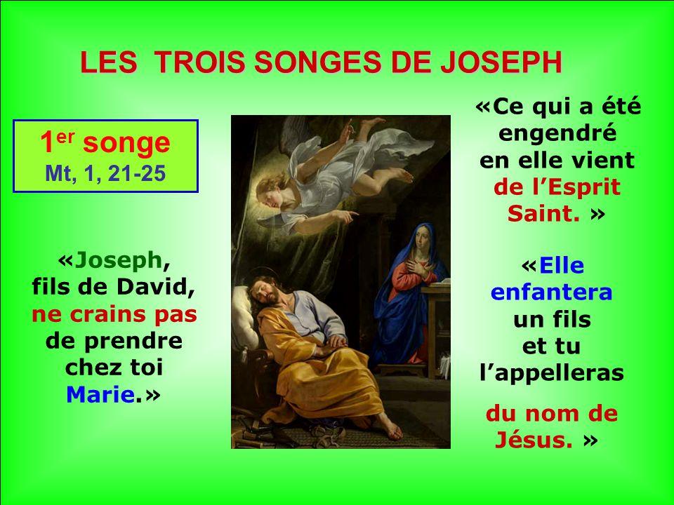 LES TROIS SONGES DE JOSEPH