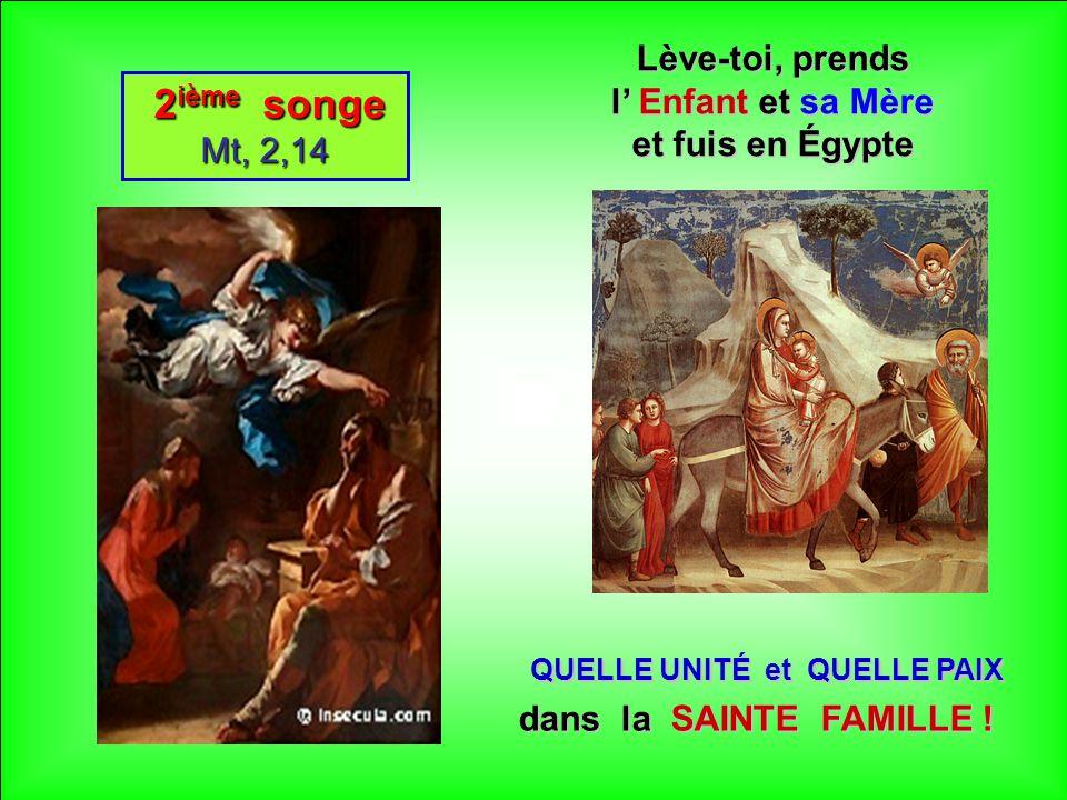 QUELLE UNITÉ et QUELLE PAIX dans la SAINTE FAMILLE !