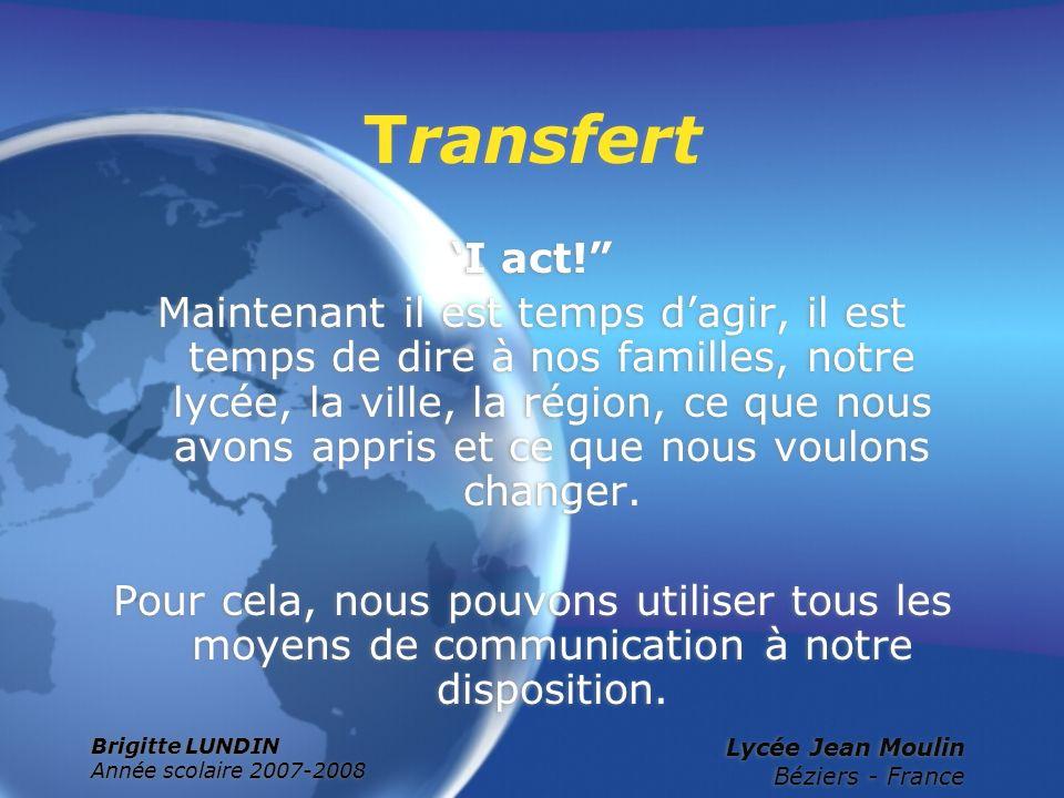 Transfert 'I act!