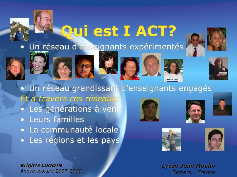 Qui est I ACT Un réseau d'enseignants expérimentés