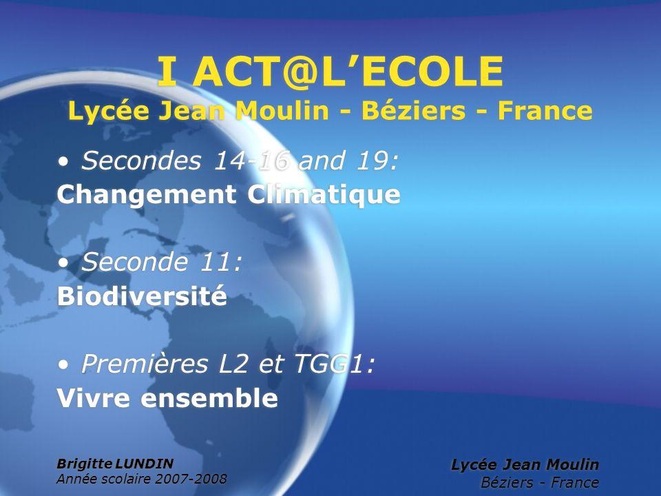 I ACT@L'ECOLE Lycée Jean Moulin - Béziers - France