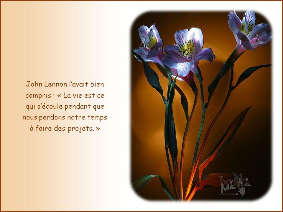 John Lennon l'avait bien compris : « La vie est ce qui s'écoule pendant que nous perdons notre temps à faire des projets. »