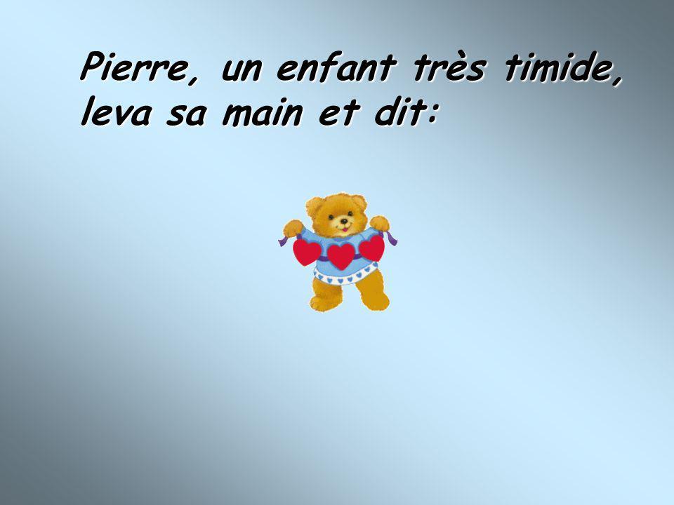 Pierre, un enfant très timide,