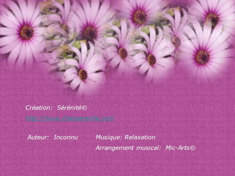 Création: Sérénité© http://www.chezserenite.com. Auteur: Inconnu.