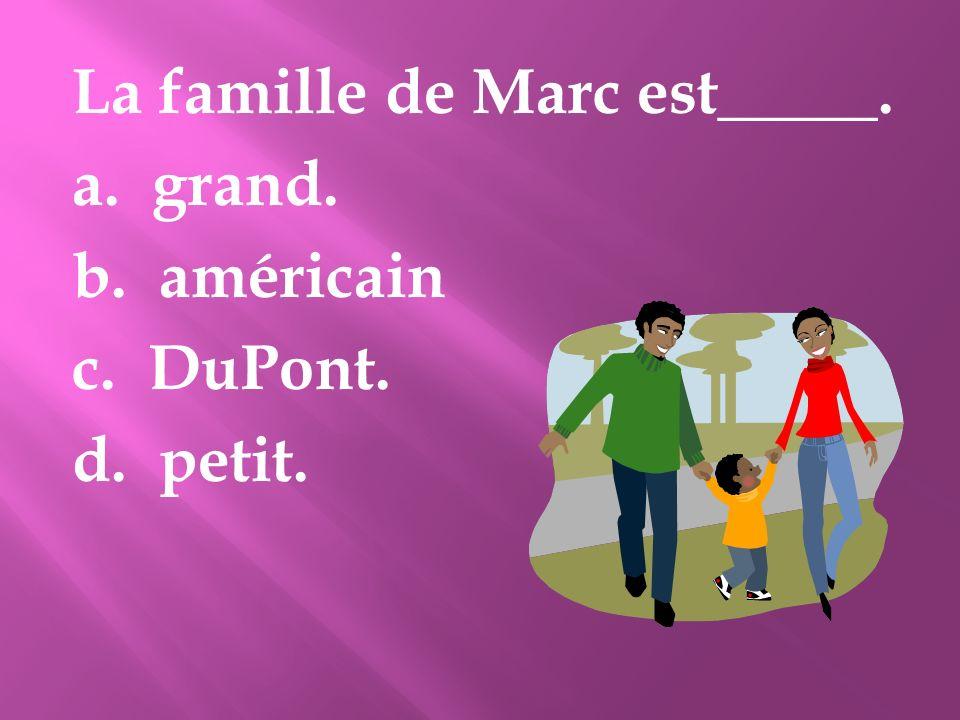 La famille de Marc est_____.