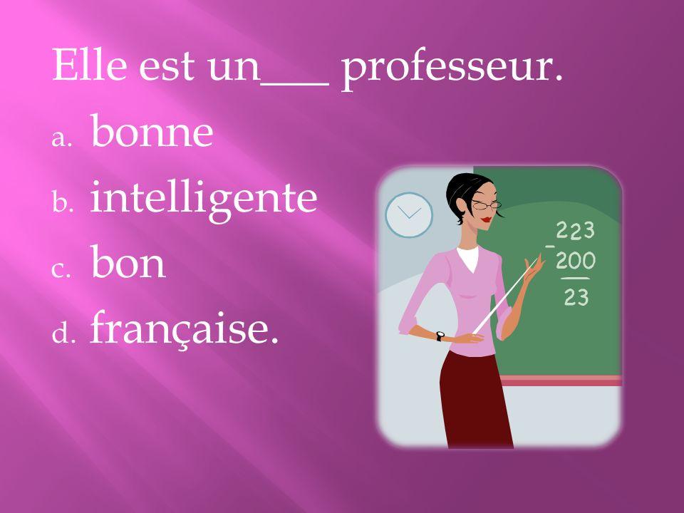 Elle est un___ professeur.