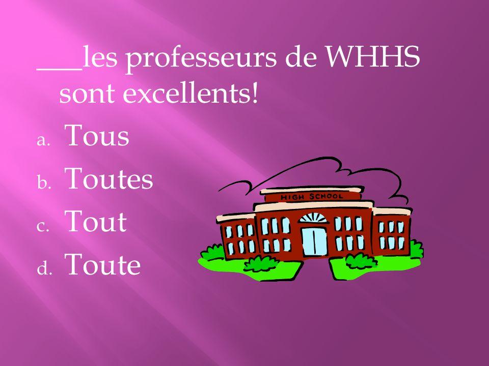 ___les professeurs de WHHS sont excellents!