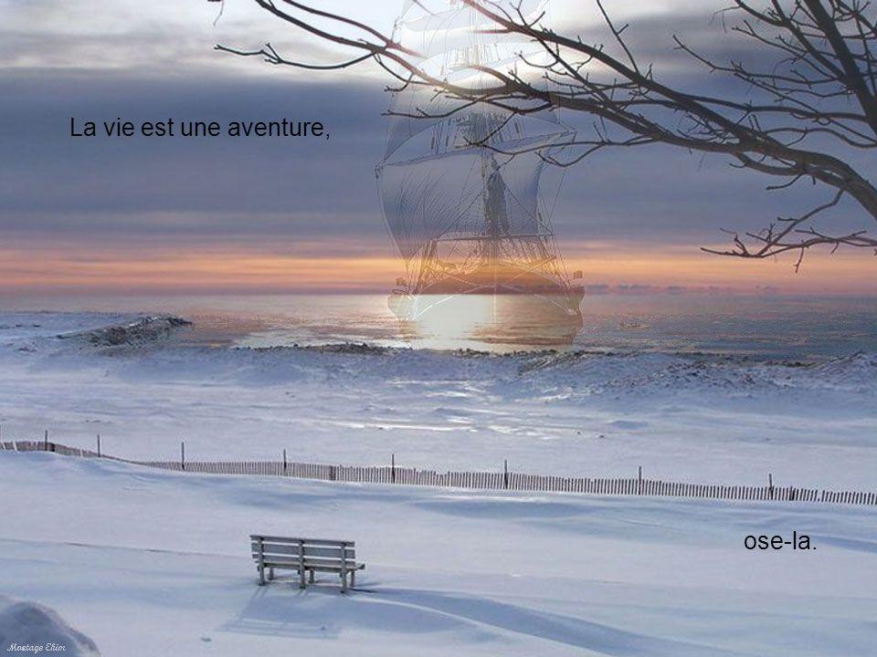 La vie est une aventure, ose-la.