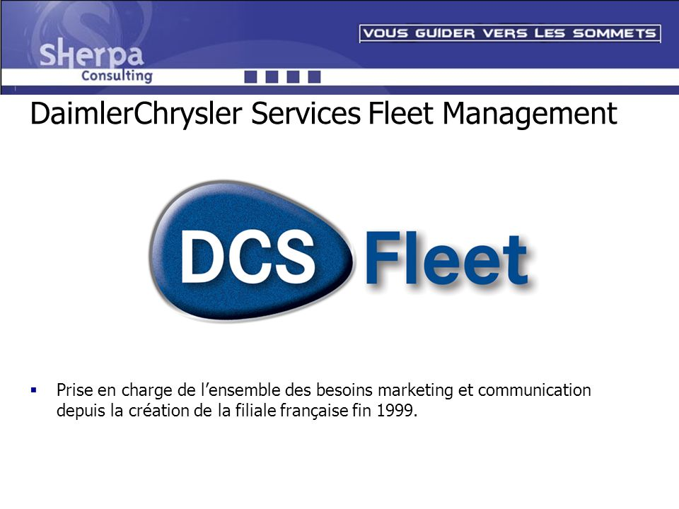 DaimlerChrysler Services Fleet Management