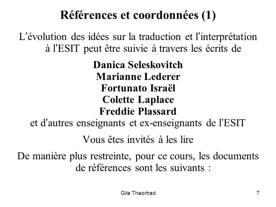 Références et coordonnées (1)