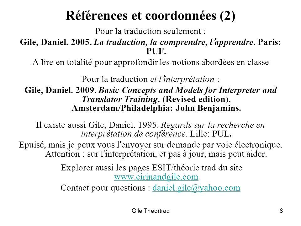 Références et coordonnées (2)