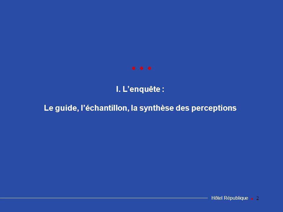 Le guide, l'échantillon, la synthèse des perceptions