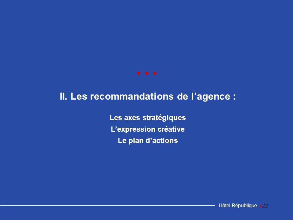II. Les recommandations de l'agence : L'expression créative