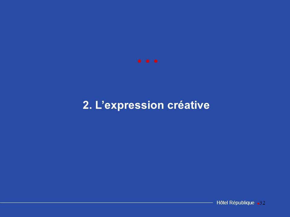 2. L'expression créative