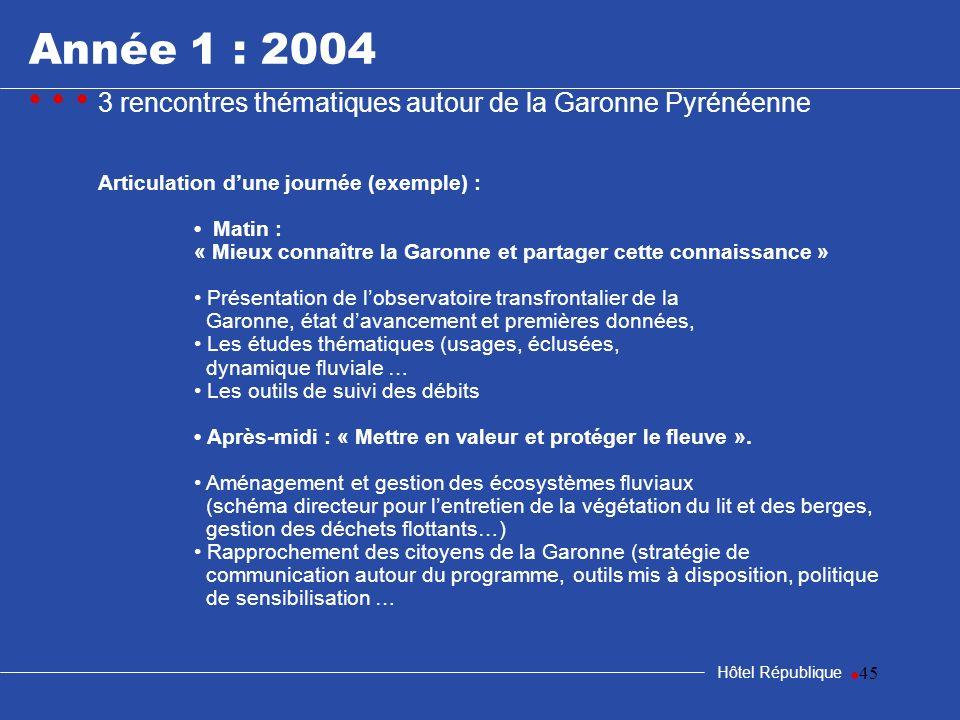 samedi 25 mars 2017Année 1 : 2004. • • • 3 rencontres thématiques autour de la Garonne Pyrénéenne. Articulation d'une journée (exemple) :