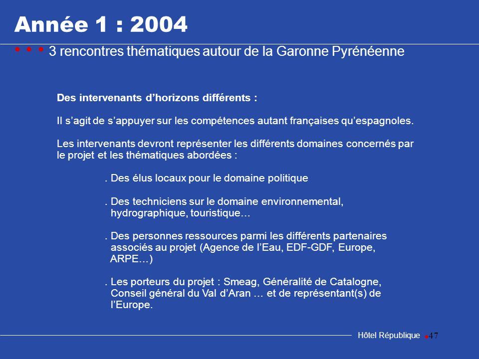 samedi 25 mars 2017Année 1 : 2004. • • • 3 rencontres thématiques autour de la Garonne Pyrénéenne. Des intervenants d'horizons différents :