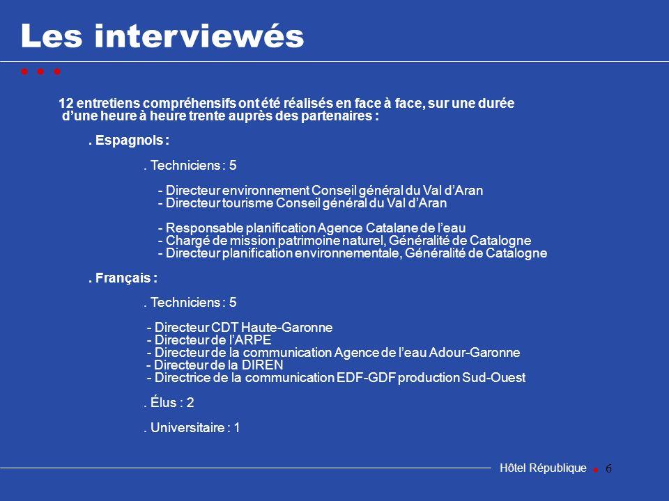samedi 25 mars 2017 Les interviewés. • • • 12 entretiens compréhensifs ont été réalisés en face à face, sur une durée.