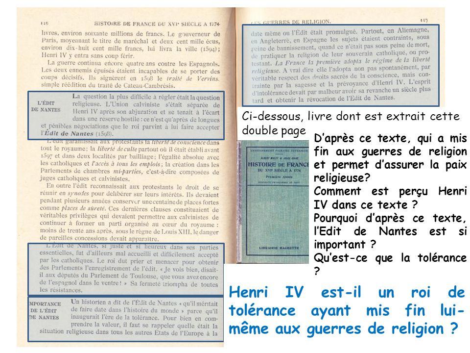 Ci-dessous, livre dont est extrait cette double page
