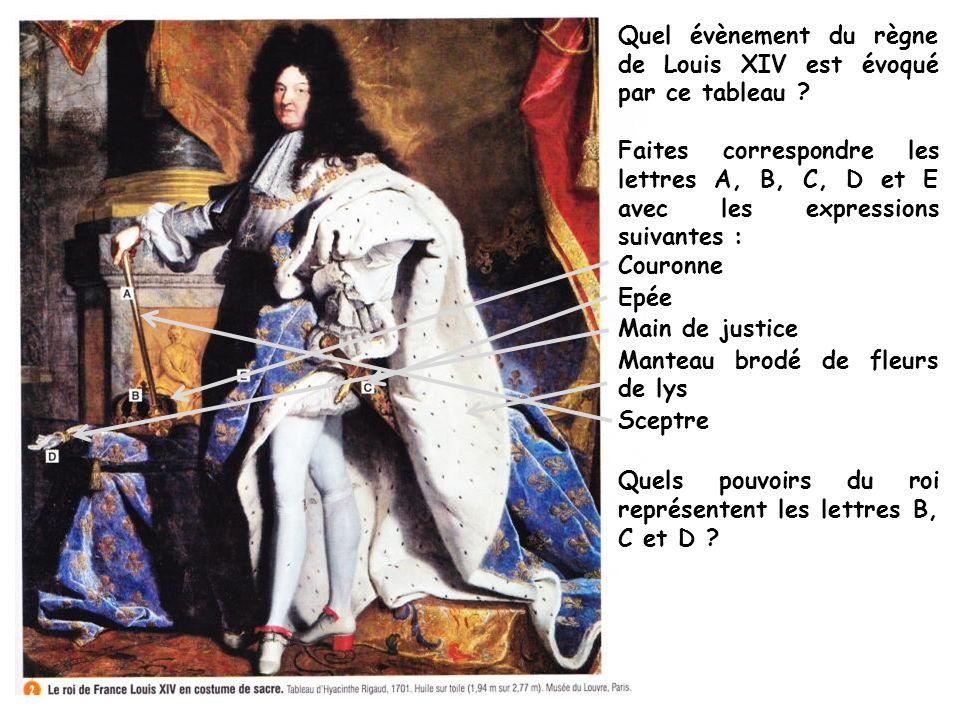 Quel évènement du règne de Louis XIV est évoqué par ce tableau