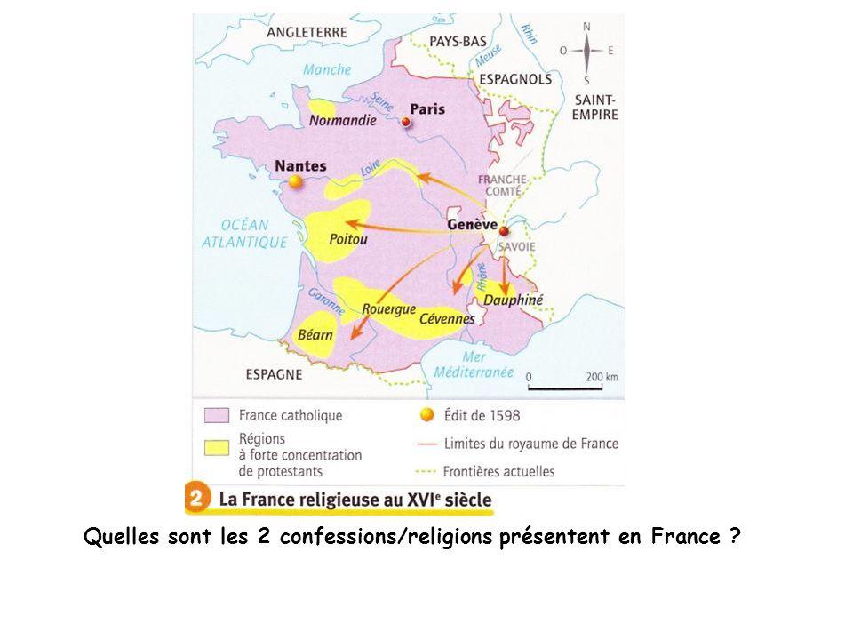 Quelles sont les 2 confessions/religions présentent en France
