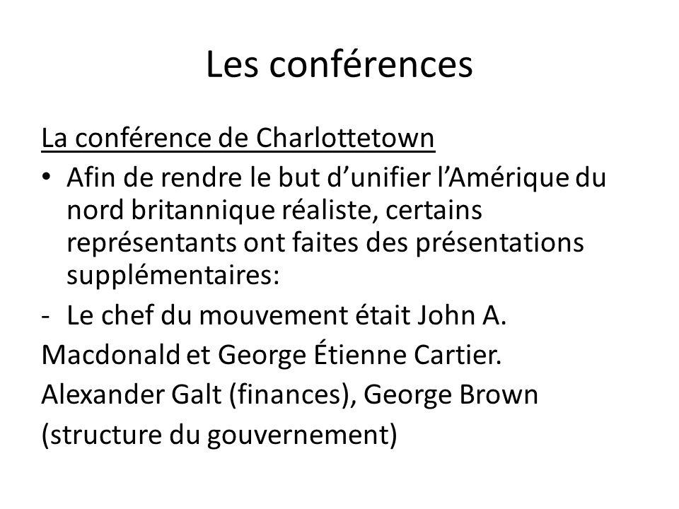 Les conférences La conférence de Charlottetown