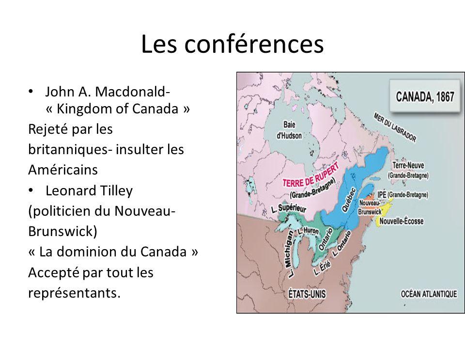 Les conférences John A. Macdonald- « Kingdom of Canada »