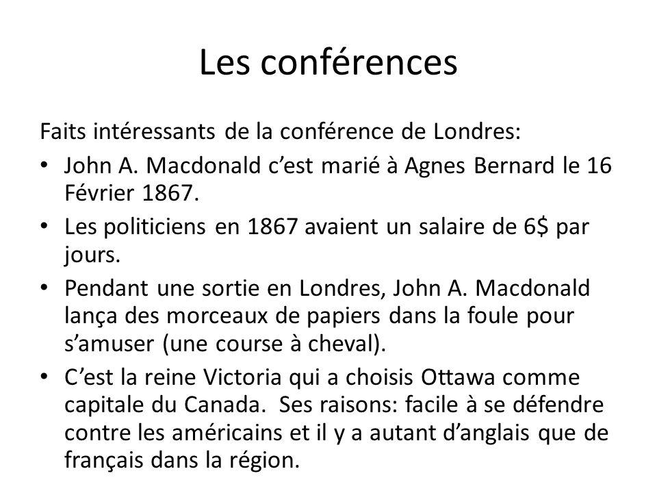 Les conférences Faits intéressants de la conférence de Londres: