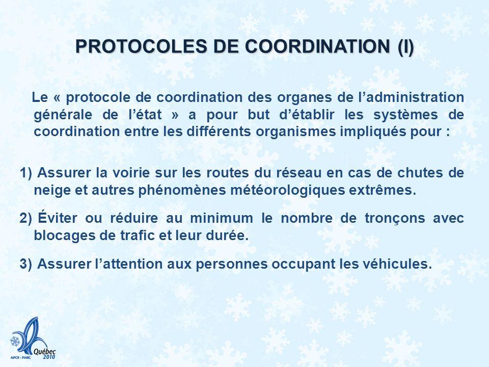 PROTOCOLES DE COORDINATION (I)