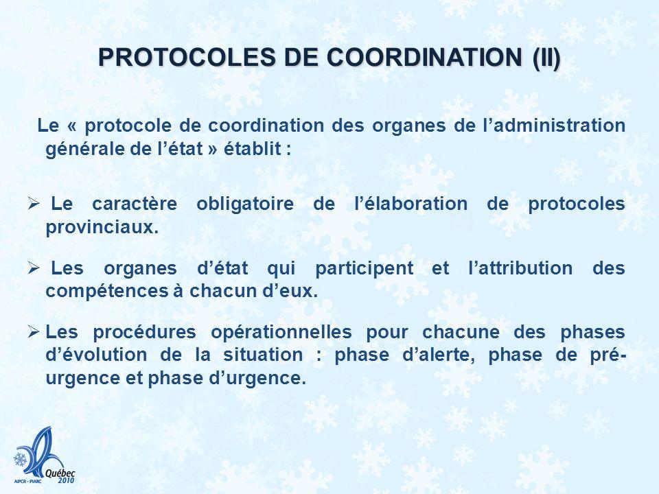 PROTOCOLES DE COORDINATION (II)